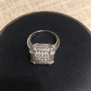 Judith Ripka Sterling Diamonique Pave Ring